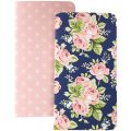 Notebooks 2/Pkg- Floral & Stars W/80 Pink Sheets