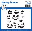 Halloween Expressions Stencil
