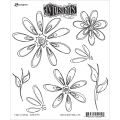 Dyan Reaveley's Dylusions Cling Stamp - Fancy Florals