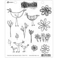 How Does Your Garden Grow - Dyan Reaveley's Dylusions Cling Stamp