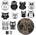Maya Road Chipboard Owl